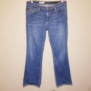 🏖AG The Angel Bootcut Frayed Hem Jeans